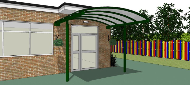Entrance Canopy - 3.46Mtr x 3.00Mtr Dome Canopy